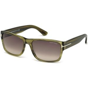 New Tom Ford Transparent Green Sunglasses